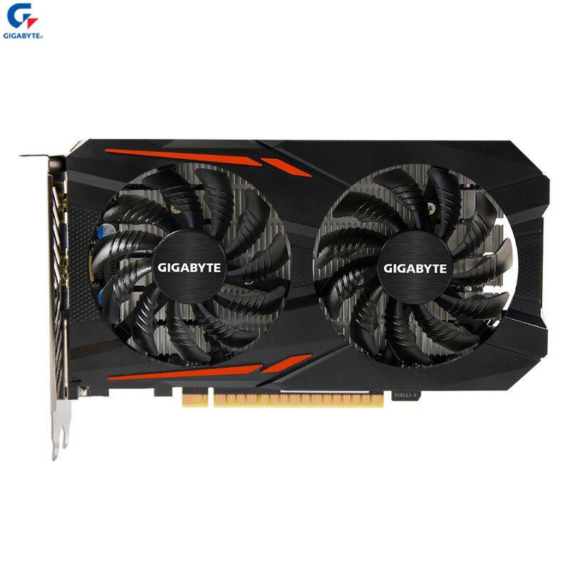 技嘉(GIGABYTE)GeForce GTX1050Ti OC 4G游戏显卡(OC Mode:1341-1455MHz