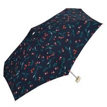 WPC 日本遮阳伞晴雨伞 樱桃伞 深蓝色